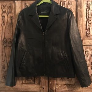 Women's XL Harve' Benard Black Leather Jacket